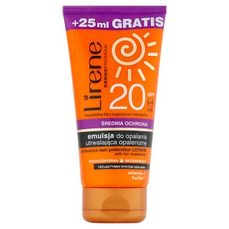Lirene Dermoprogram Photostable Sun Protection Lotion with Tan Maximizer SPF 20 150 ml