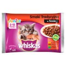 Whiskas Junior 2-12 Months Traditional Flavours in Sauce Complete Cat Food 400 g (4 x 100 g)
