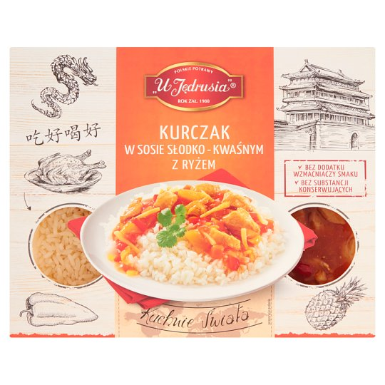 U Jędrusia Chicken in Sweet and Sour Sauce with Rice 400 g