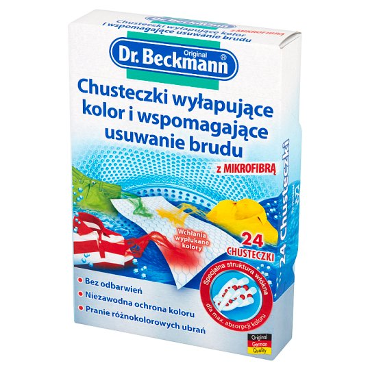 Dr. Beckmann Catching Colour and Dirt Removal Tissues 24 Pieces