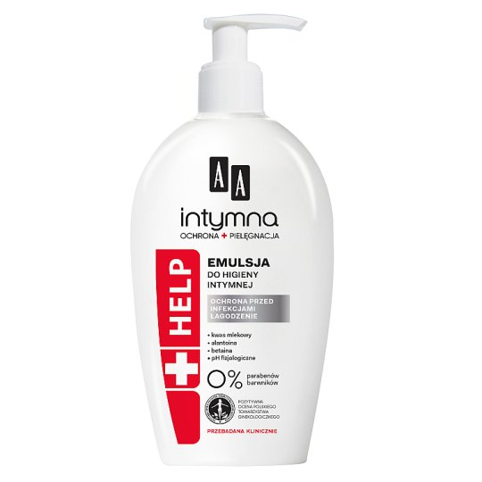 AA Intimate Protection&Care Help emulsion for intimate hygiene dispenser 300 ml