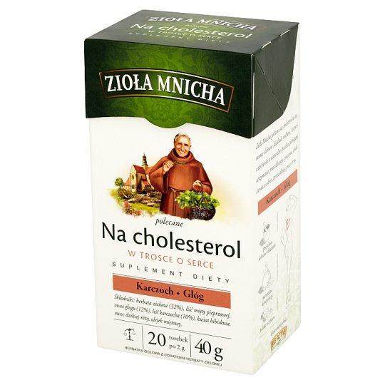 Big-Active Zioła Mnicha for Cholesterol Dietary Supplement Herbal Tea 40 g (20 Tea Bags)