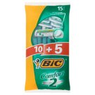 BiC Comfort 2 Disposable Razors 15 Pieces