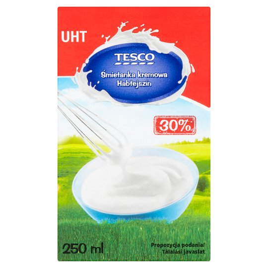 Tesco 30% UHT Creamy Cream 250 ml