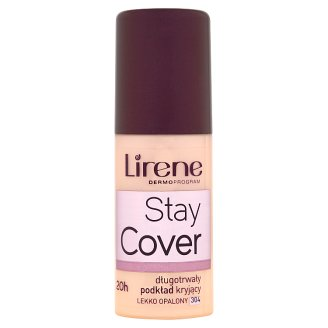 Lirene Stay Cover Long Lasting Covering Foundation 304 Lightly Tanned 30 ml