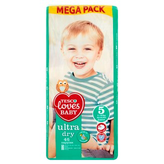 Tesco Loves Baby Ultra Dry Nappies 5 Junior 11-25 kg 46 Pieces