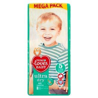 Tesco Loves Baby Ultra Dry Pieluszki jednorazowe 5 junior 11-25 kg 46 sztuk