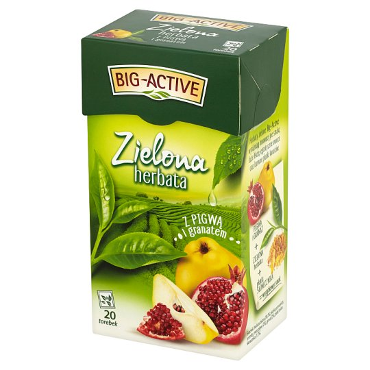 Big-Active Green Tea with Quince and Pomergranate 34 g (20 Tea Bags)