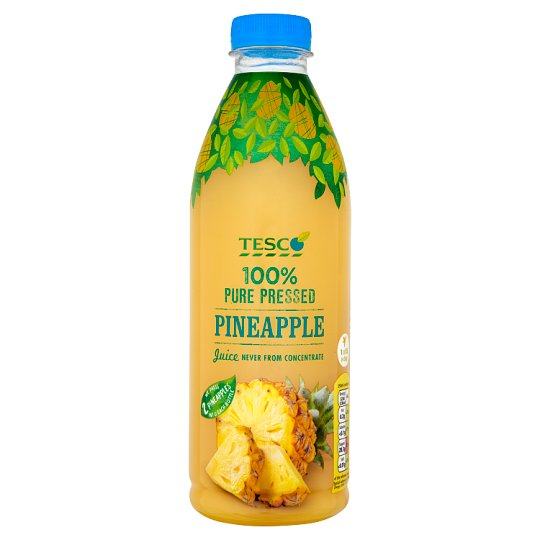 Tesco 100% Pure Squeezed Pineapple Juice Never from Concentrate 1 L