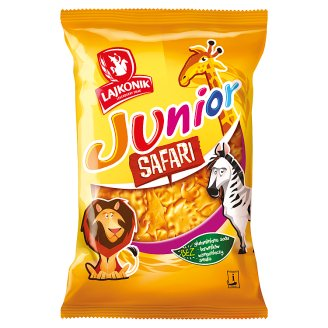 Lajkonik Junior Safari Vanilla Flavoured Baked Snack 125 g
