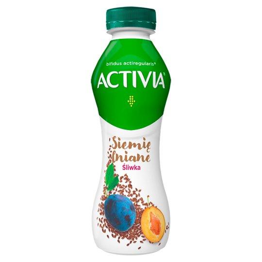Danone Activia Jogurt siemię lniane śliwka 280 g