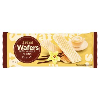 Tesco Wafers with Vanilla Flavour Filling 175 g