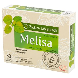 Colfarm Zioła w tabletkach Melissa Dietary Supplement 30 Tablets