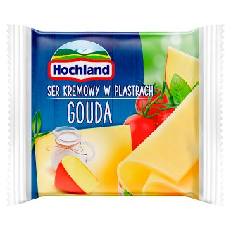 Hochland Ser kremowy w plastrach Gouda 130 g (8 sztuk)