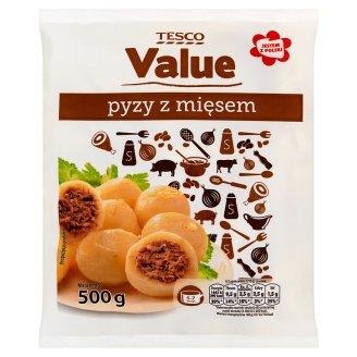 Tesco Value Pyzy z mięsem 500 g