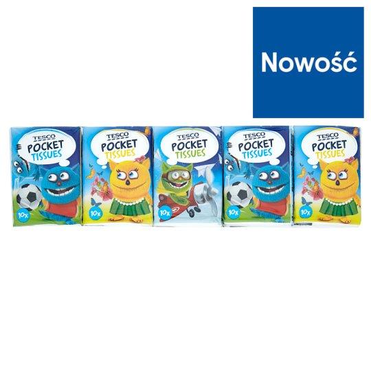 Tesco Kids Mini 3 Ply Pocket Tissues 10 x 10 Pieces