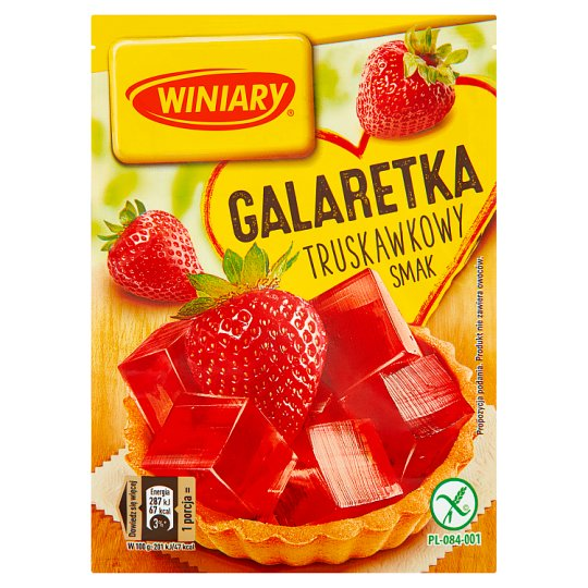 Winiary Strawberry Flavoured Jelly 71 g
