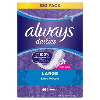 Always Dailies Extra Protect Panty Liners Large Fresh x 46