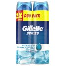 Gillette Series Pure & Sensitive Żel do golenia 2x200 ml