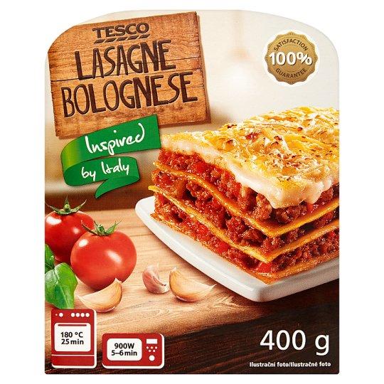 Tesco Lasagne z sosem pomidorowym z mięsem wieprzowym 400 g