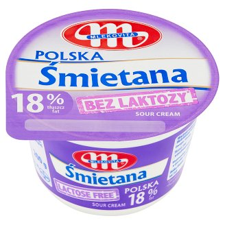 Mlekovita 18% Lactose Free Polish Sour Cream 200 g