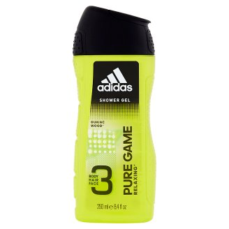 Adidas Pure Game 3 Body Hair and Face Shower Gel 250 ml