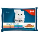 Gourmet Perle Mini Fillets in Sauce Complete Food for Adult Cats 4 x 85 g