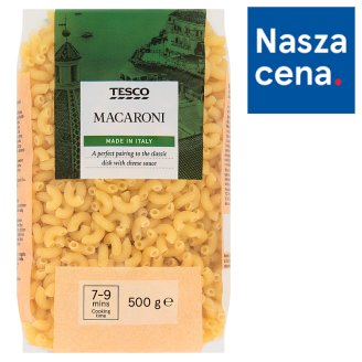 Tesco Macaroni Makaron bezjajeczny 500 g