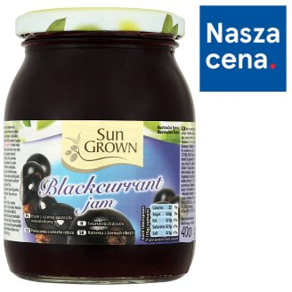 Sun Grown Blackcurrant Jam 400 g