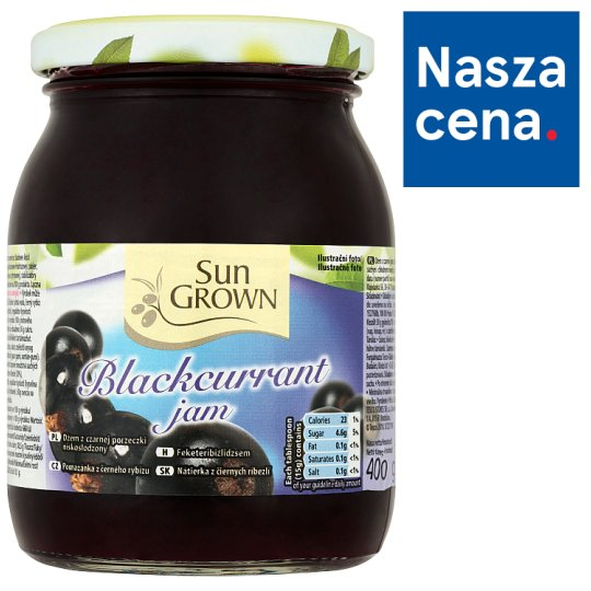 Sun Grown Blackcurrant Jam 400 g