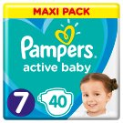 Pampers Active Baby Size 7, 40 Nappies, 15+kg