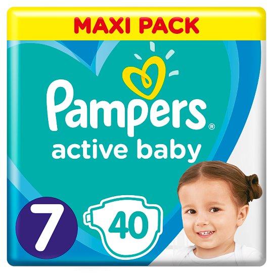 Pampers Active Baby Rozmiar 7, 40 pieluszek, 15+ kg