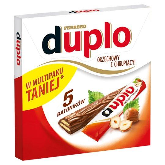 Duplo Hazelnut Wafer Covered with Milk Chocolate 91 g (5 Bars)