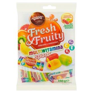 Wawel Fresh & Fruity Multiwitamina Galaretki z nadzieniem 160 g
