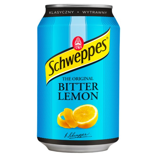 Schweppes Bitter Lemon Napój gazowany o smaku cytrynowym 330 ml
