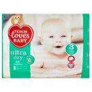 Tesco Loves Baby Ultra Dry Pieluszki jednorazowe 3 midi 4-9 kg 38 sztuki