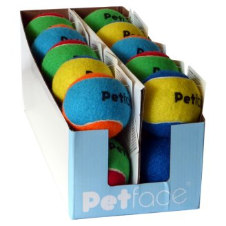 Petface Tennis Ball Dog Toy Colour Mix