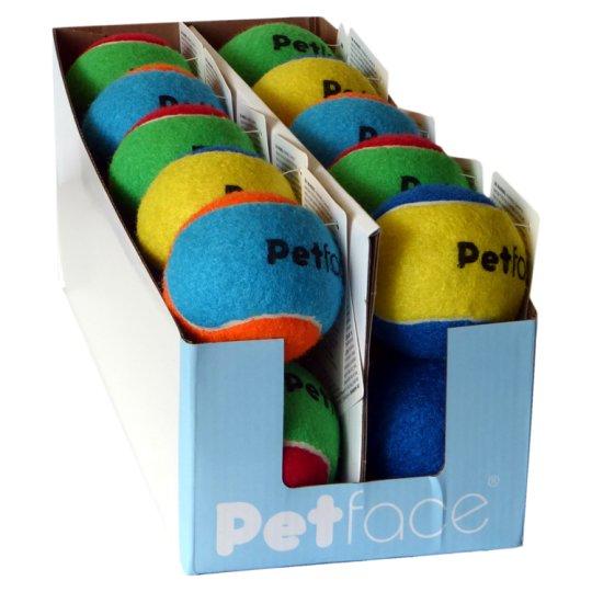 Petface Tennis Ball Dog Toy Colour Mix
