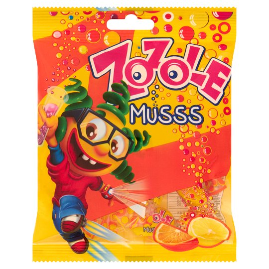 Zozole Musss Lemon and Orange Flavoured Candy with Fizzy Filling 75 g