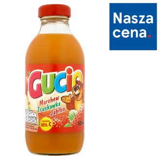 Gucio Carrot Strawberry and Apple Juice Enriched with Vitamin C 330 ml