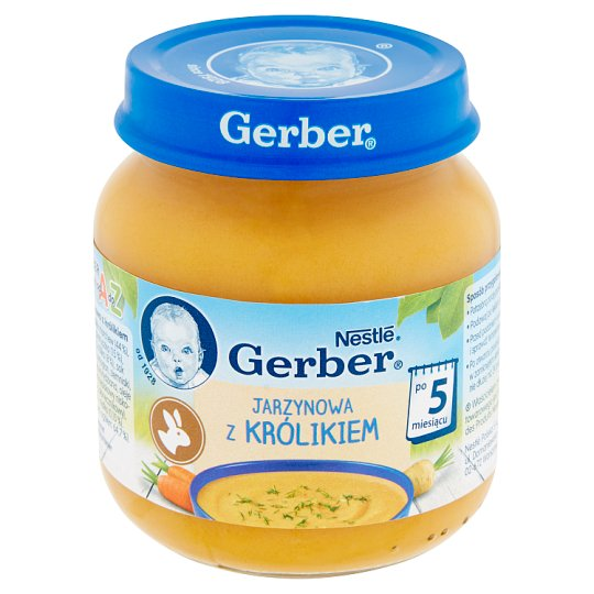 Gerber Vegetable Soup with Rabbit after 5 Months Onwards 125 g