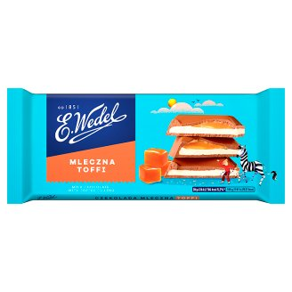 E. Wedel Milk Chocolate with Toffee Filling 100 g