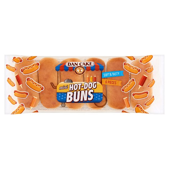 Dan Cake Mini Hot-Dog Buns 240 g (6 x 40 g)