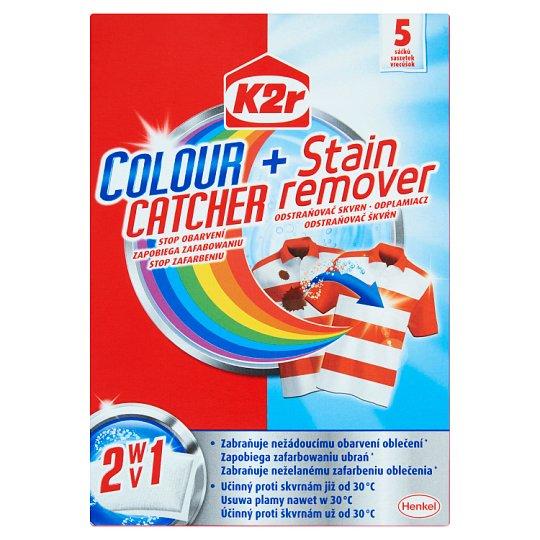 K2r Colour Catcher + Stain Remover Sachets 150 g (5 Pieces)