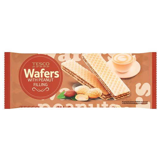 Tesco Wafers with Peanut Filling 175 g