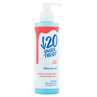 Under Twenty Anti Acne Aktywny żel głęboko oczyszczający i odblokowujący pory 200 ml