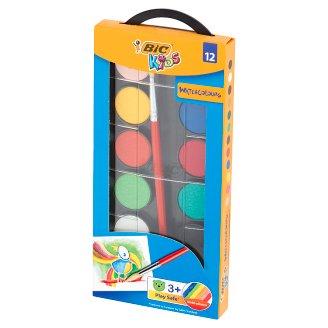 BiC Kids Farby akwarelowe 12 kolorów