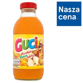 Gucio Carrot Banana and Apple Juice Enriched with Vitamin C 330 ml