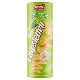 Chipsletten Formed Potato Crisps with Onion and Chive Flavour 100 g