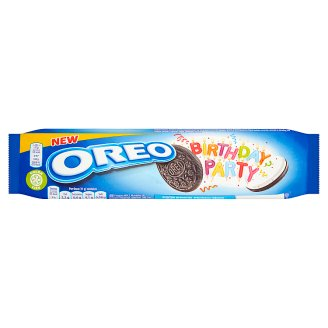 Oreo Birthday Party Chocolate Flavour Sandwich Biscuits with Caramel and Coloured Sprinkles 154 g